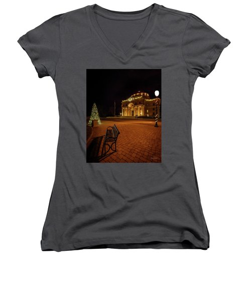 An Atascadero Christmas Women's V-Neck (Athletic Fit)