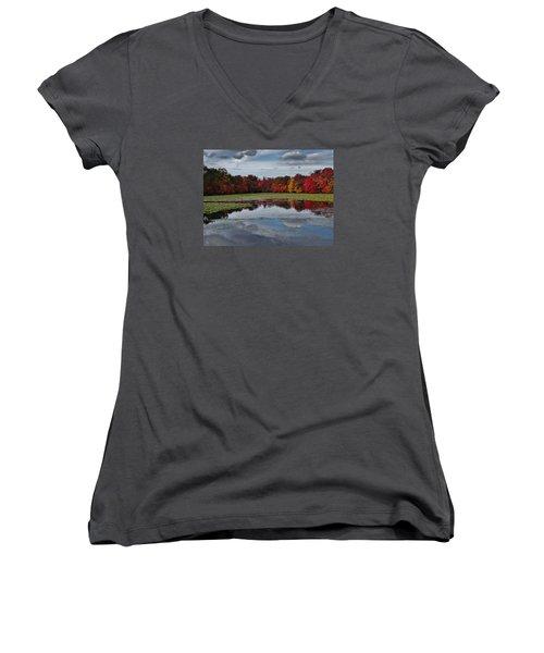 An Autumn Day Women's V-Neck T-Shirt