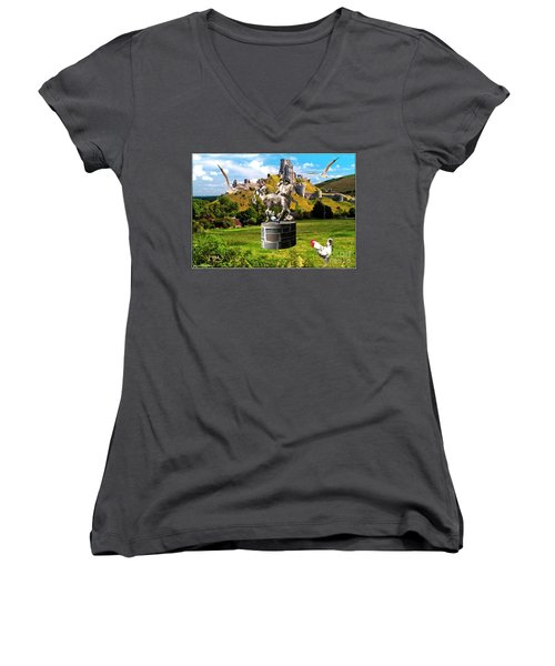 An Echo Of Past Time Women's V-Neck T-Shirt