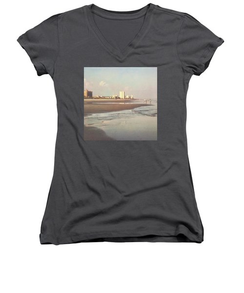 An Evening Walking The Grand Strand Women's V-Neck T-Shirt