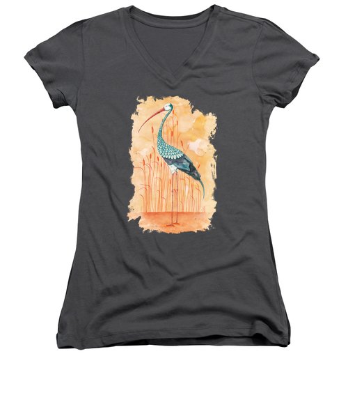 An Exotic Stork Women's V-Neck (Athletic Fit)