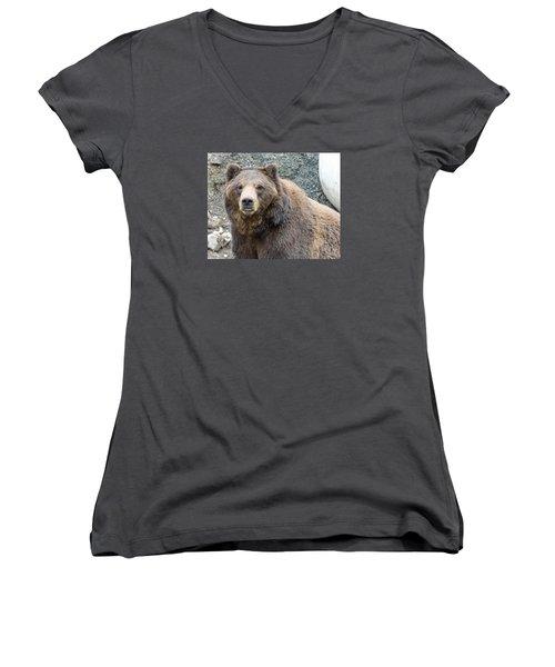 An Eye On You Women's V-Neck T-Shirt (Junior Cut) by Harold Piskiel
