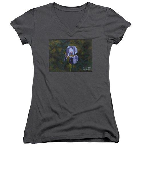 An Iris In My Garden Women's V-Neck T-Shirt