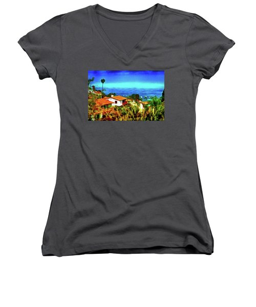 An Ocean View Women's V-Neck (Athletic Fit)