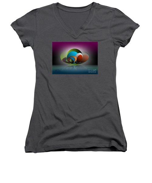 Analogy Women's V-Neck T-Shirt (Junior Cut) by Leo Symon