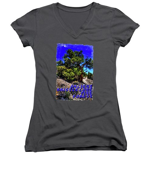 Ancient Bristlecone Pine Tree Women's V-Neck T-Shirt