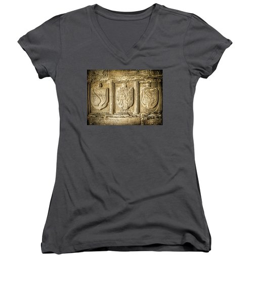 Ancient Carvings Women's V-Neck