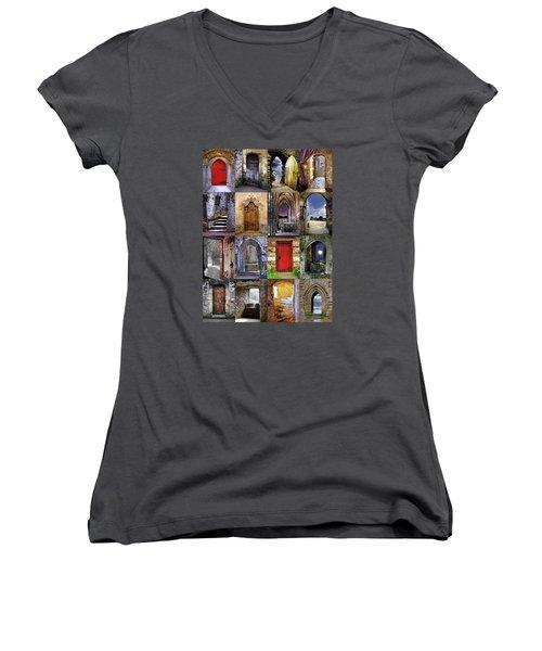 Ancient Doorways Women's V-Neck T-Shirt