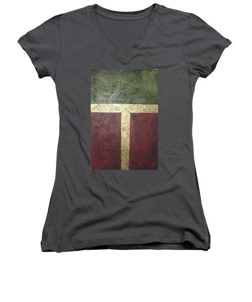 Ancient Hieroglyphics Women's V-Neck T-Shirt