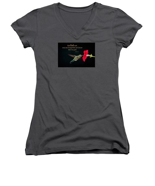 And It Was Good Women's V-Neck (Athletic Fit)