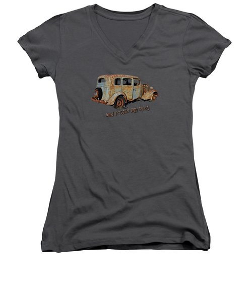 And Rotate My Tires Women's V-Neck (Athletic Fit)