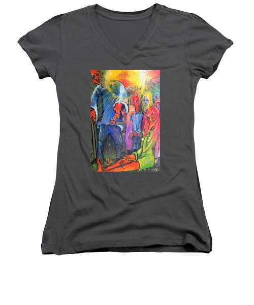 And, The Sun Always Rises Women's V-Neck (Athletic Fit)