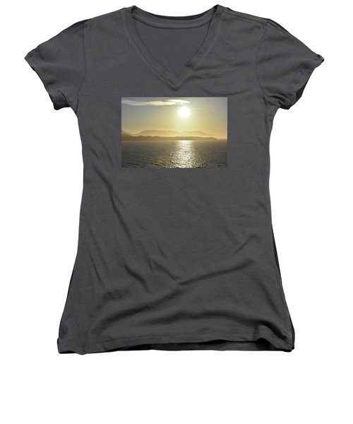And The Sun Goes Down Women's V-Neck