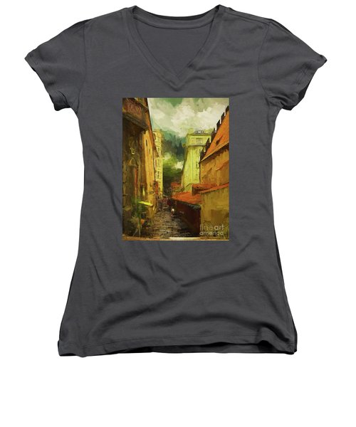 And Then It Rained Women's V-Neck