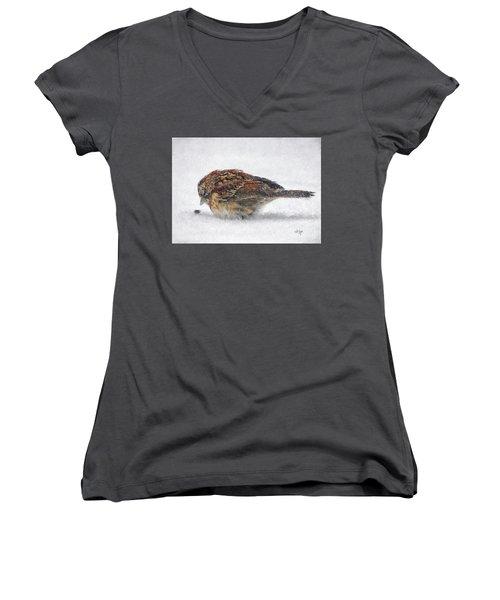 And These Thy Gifts  Women's V-Neck T-Shirt (Junior Cut) by Lois Bryan