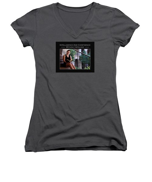 Andria 2-1-36 Women's V-Neck T-Shirt