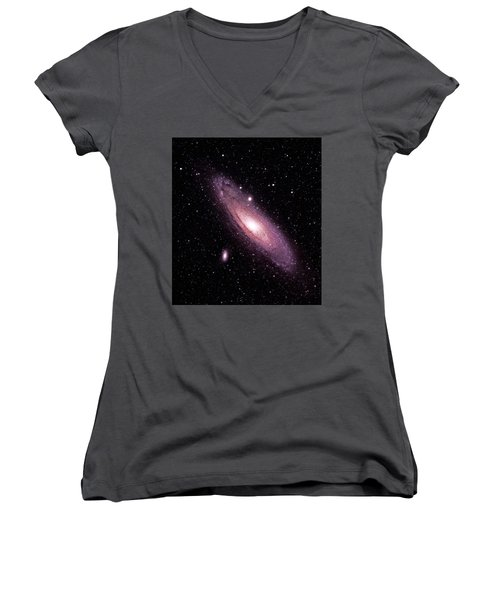 M31 Andromeda Galaxy Women's V-Neck (Athletic Fit)
