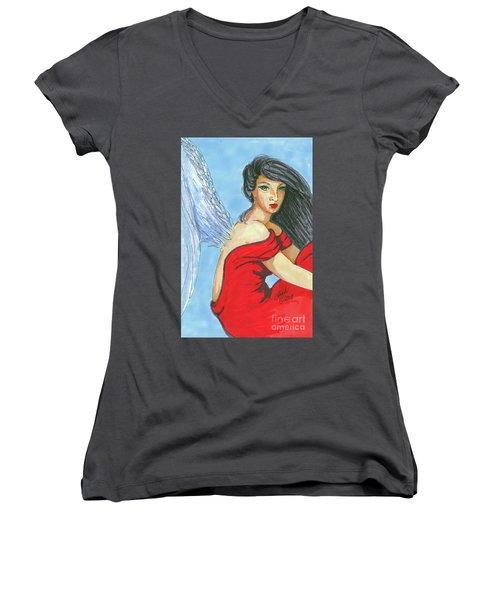 Angel Among Us Women's V-Neck T-Shirt