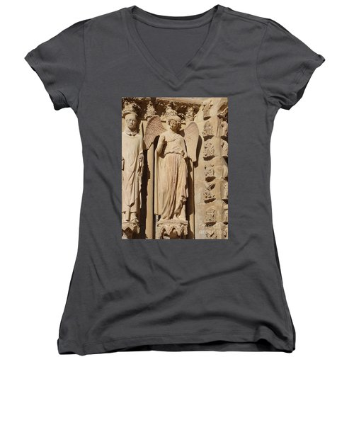 Angel In Reims Women's V-Neck T-Shirt