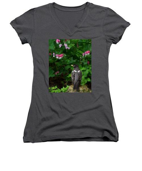 Angel In The Garden Women's V-Neck T-Shirt
