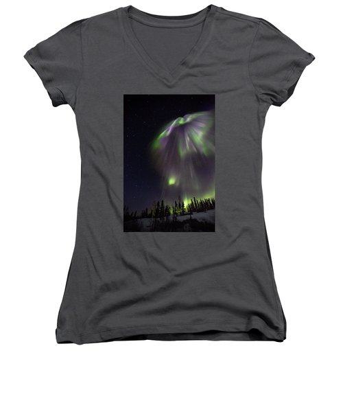 Angel In The Night Women's V-Neck (Athletic Fit)