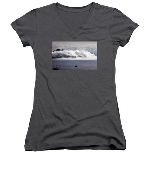 Angel Island Fog Women's V-Neck