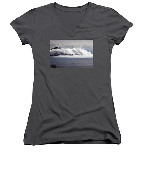 Angel Island Fog Women's V-Neck