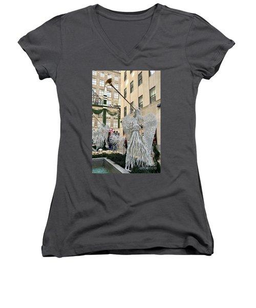 Angel New York City Women's V-Neck