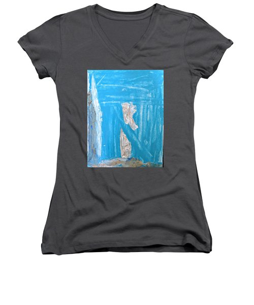 Angels Under A Bridge Women's V-Neck