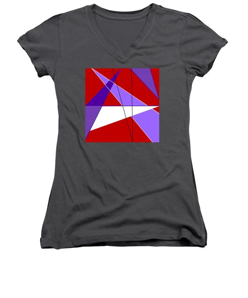 Angles And Triangles Women's V-Neck (Athletic Fit)