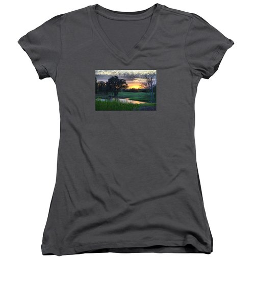 Angles Camp Women's V-Neck (Athletic Fit)