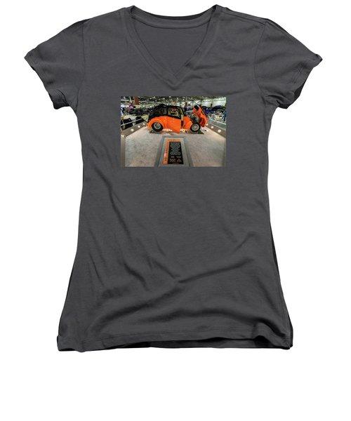 Anglia Women's V-Neck T-Shirt (Junior Cut) by Randy Scherkenbach