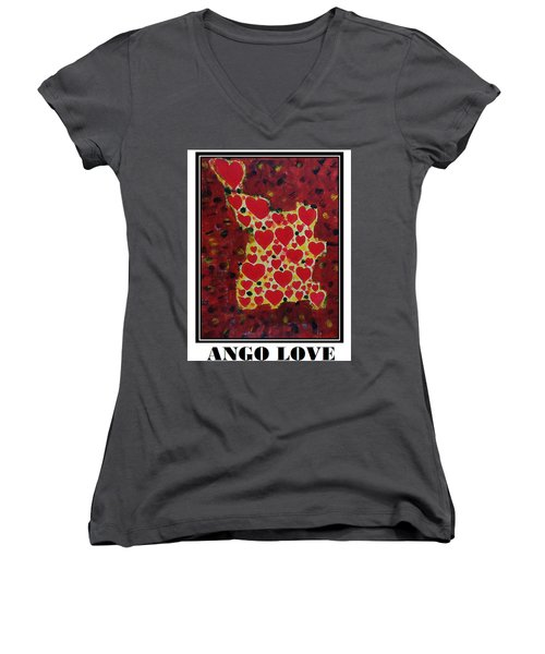 Ango Love Women's V-Neck T-Shirt