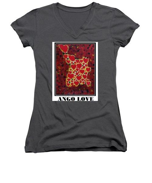 Ango Love Women's V-Neck T-Shirt (Junior Cut)