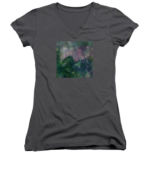 Angry Ocean Women's V-Neck (Athletic Fit)