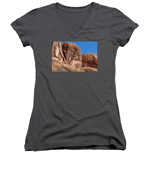 Angry Rock - 2  Women's V-Neck (Athletic Fit)