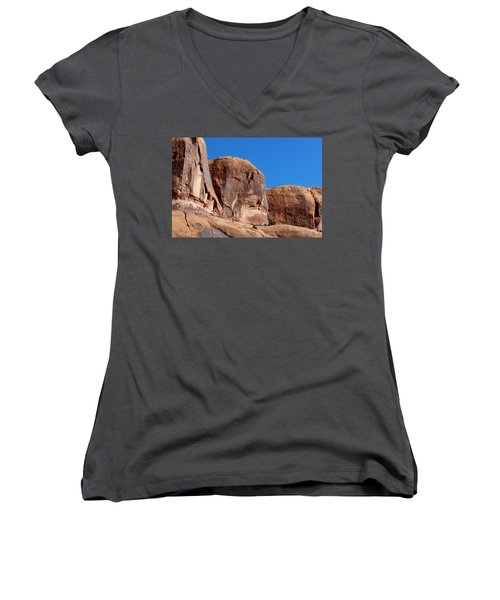 Angry Rock  Women's V-Neck (Athletic Fit)
