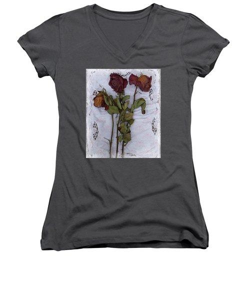 Anniversary Roses Women's V-Neck T-Shirt