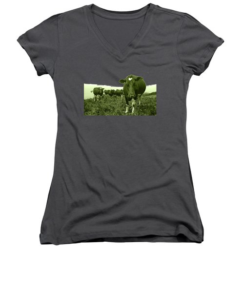 Annoyed Cow Women's V-Neck (Athletic Fit)