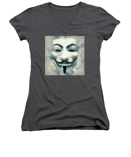 Anonymous Women's V-Neck (Athletic Fit)