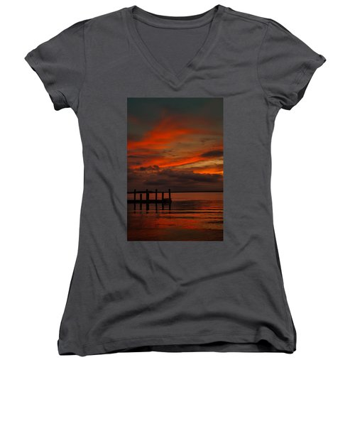 Another Day Is Done Women's V-Neck