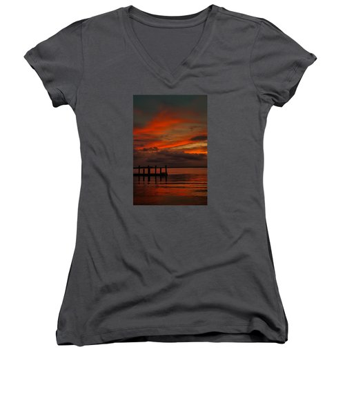 Another Day Is Done Women's V-Neck (Athletic Fit)