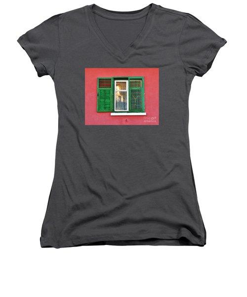 Another Green Shutter Women's V-Neck T-Shirt