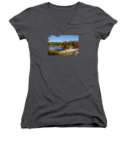 Another View Of Liscombe Falls Women's V-Neck T-Shirt