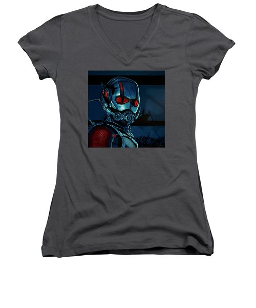 Ant Man Painting Women's V-Neck (Athletic Fit)