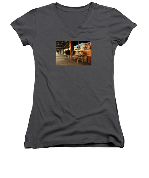 Antique Bench Women's V-Neck (Athletic Fit)
