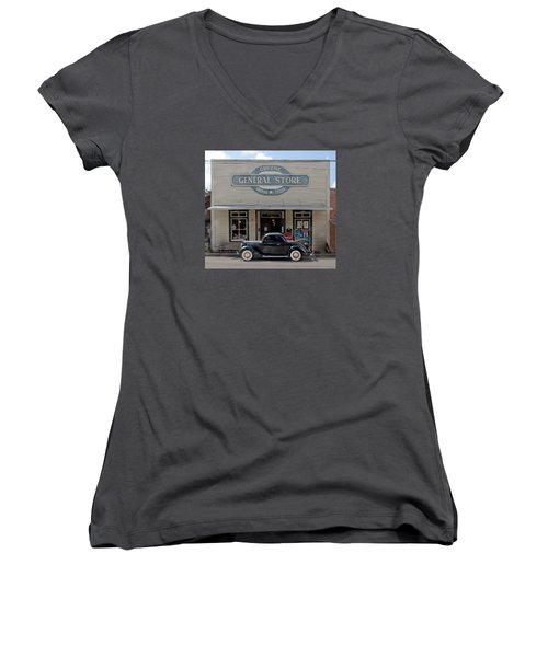 Antique Car At Gruene General Store Women's V-Neck (Athletic Fit)