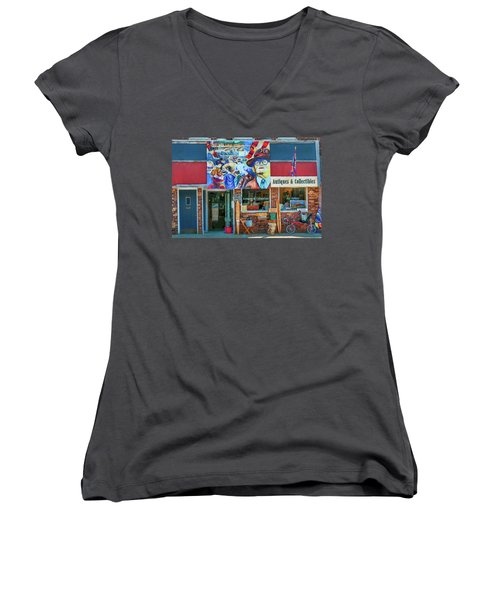 Antiques And Collectibles Women's V-Neck T-Shirt (Junior Cut) by Trey Foerster