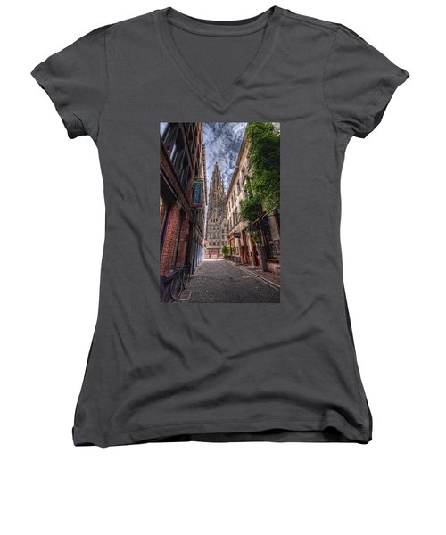 Antwerp Cathedral Women's V-Neck