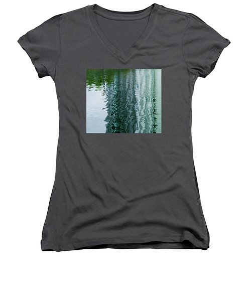 Apartment Building Reflection, Confluence Park, Denver, Colorado Women's V-Neck (Athletic Fit)